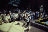 Band in Folk Costumes Performing in the Twin City Federal Plaza