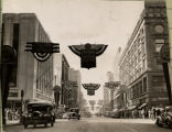Nicollet Avenue at 7th Street Decorated for the City Centennial