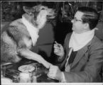 Rin Tin Tin Breakfasts with Columnist